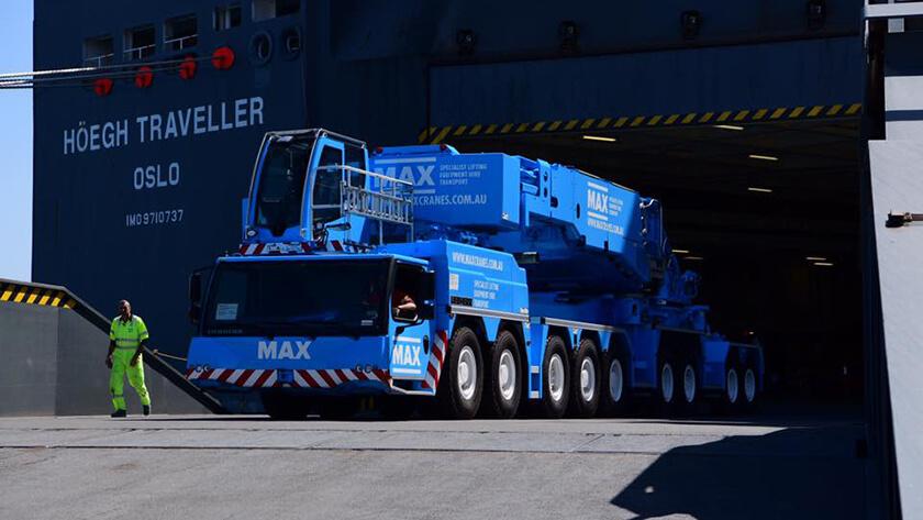 Arrival Of The Liebherr Ltm 11200-9 1 Crane