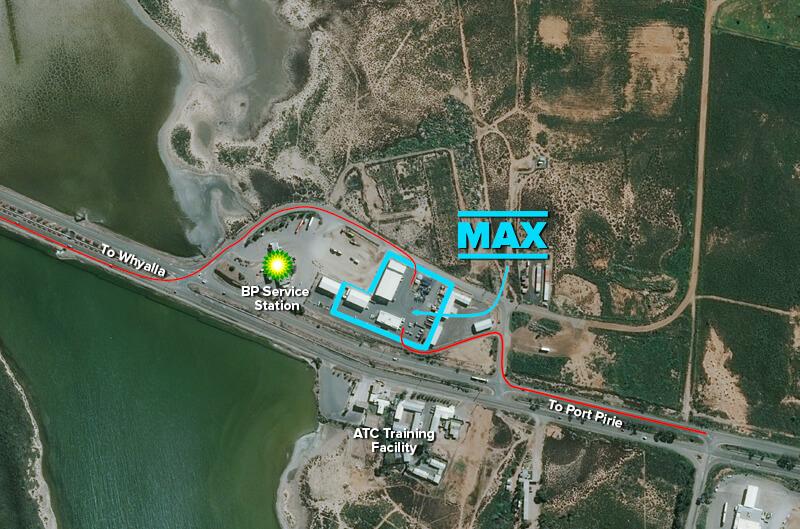 Aerial View Max Cranes Port Augusta