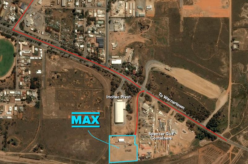 Max Cranes Port Pirie Depot