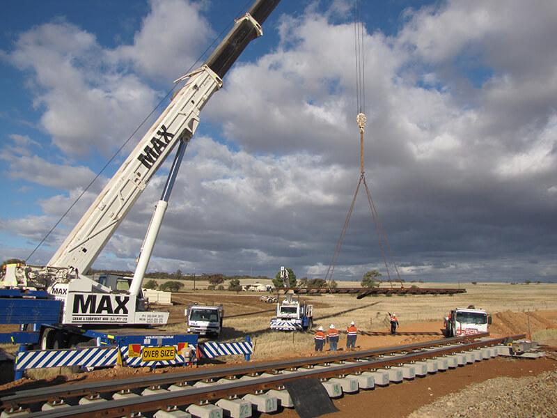 ARTC Triple Crane Lift - MAX Cranes