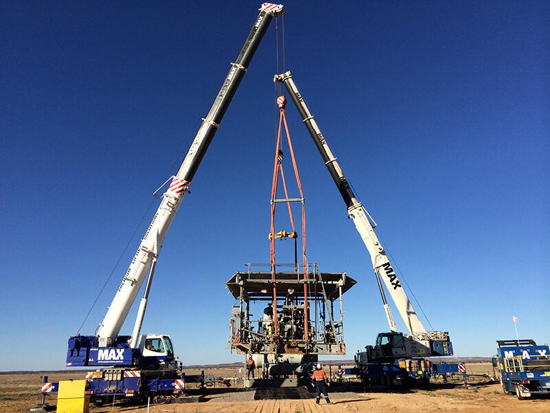 Challum Compressor Transfield Services – MAX Cranes