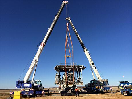 Challum Compressor Transfield Services - MAX Cranes