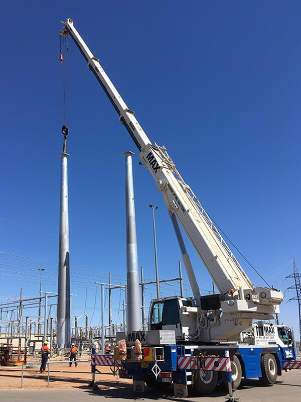 Enerven Sub Station Gantry - MAX Cranes