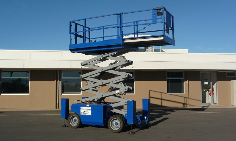 Genie GS 3268RT 32ft All Terrain Diesel Scissor Lift - MAX Cranes