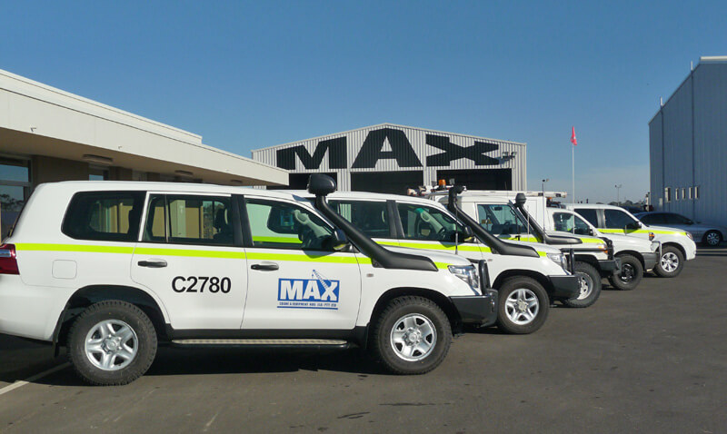 Light Vehicle Fleet - MAX Cranes