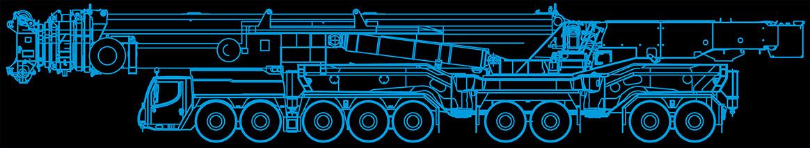 MAX Cranes LTM 11200 Crane