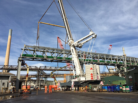Nyrstar Pipe Racks Port Pirie - MAX Cranes