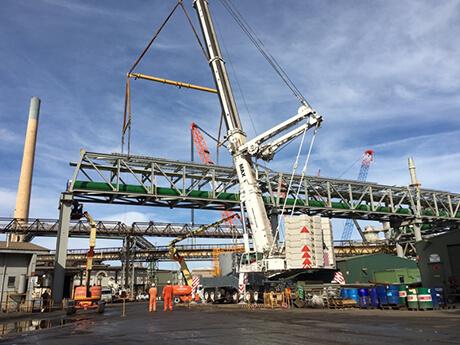 Nyrstar Pipe Racks Port Pirie - MAX Cranes