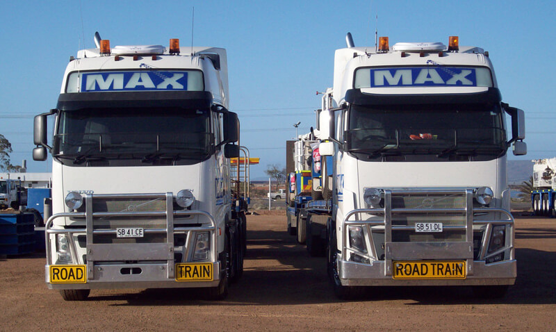 Semi Trailers & Road Trains - MAX Cranes