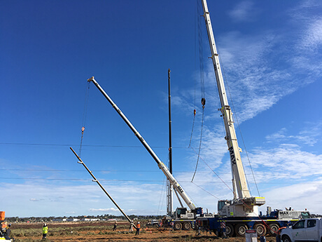 Stobie Pole Installation - Broadspectrum - MAX Cranes