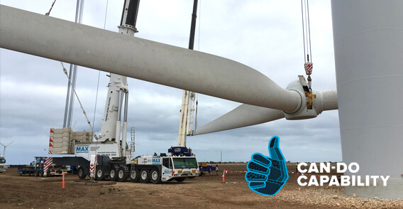 Turbine Rotor Lift - Max Cranes Adelaide
