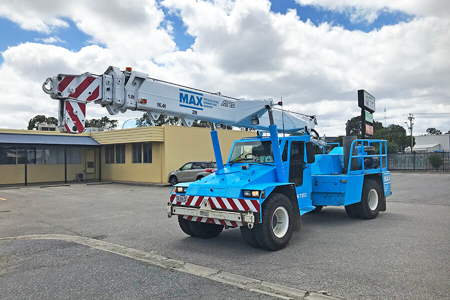 terex franna at20 pick  u0026 carry crane adelaide