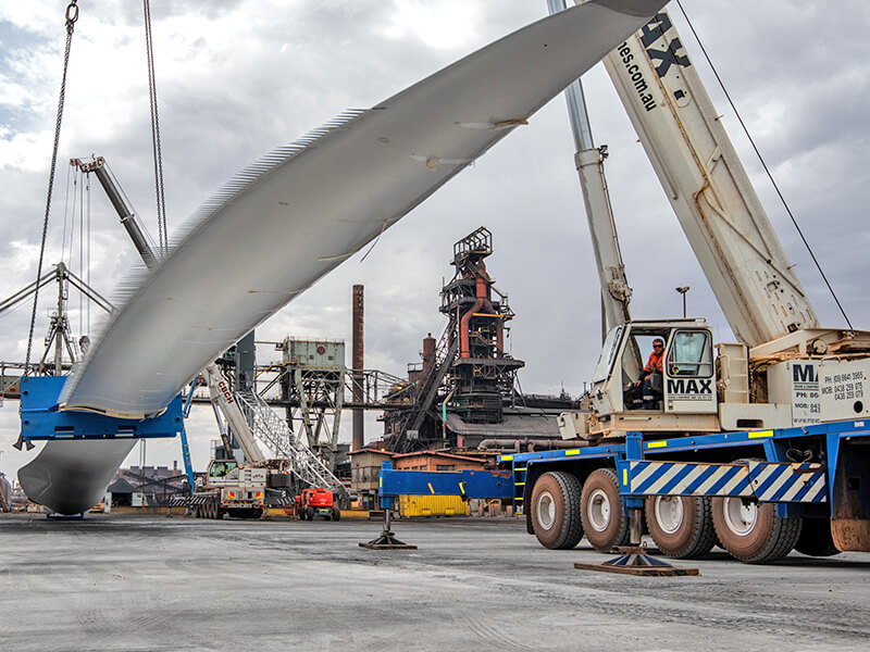 CBCH Turbine Blade Lift Whyalla Wharf