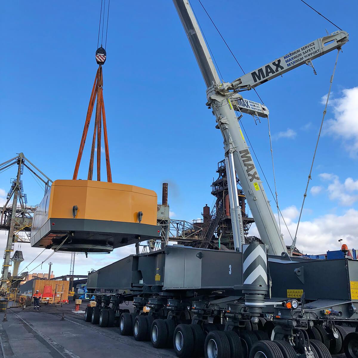 MAX Cranes - Wharf Crane Assembly Whyalla SA