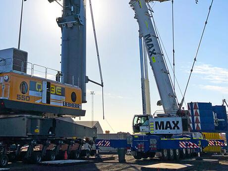 Qube Mobile Harbour Crane Assembly