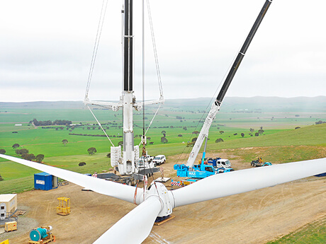 Hallett Wind Farm Rotor & Drivetrain Replacement