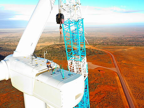 Gearbox Replacement Lincoln Gap Wind Farm