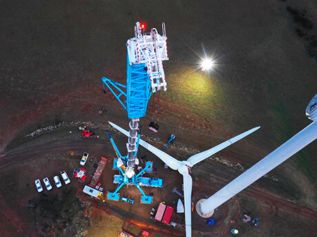 Wind Turbine Hub Replacement