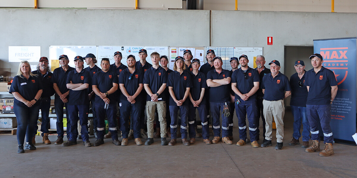 Academy trainees with MAX personnel and trainers